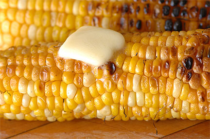Corn!  The summer veggie that reaches for the sky!  Tasty in so MANY ways!