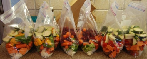 Veggies Storage - Freeze, convenient ready to use!