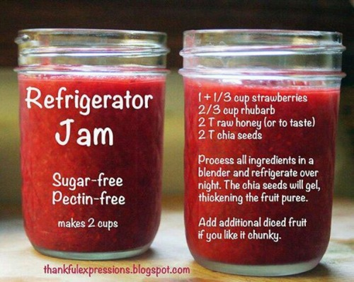 Strawberry Rhubarb Refrigerator Jam!  Delicious way to store your harvest!