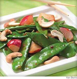Snow Chinese Flat Peas Cashew Stir Fry
