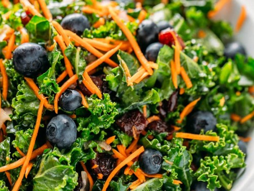Kale Blueberry Salad Natasha's Kitchen