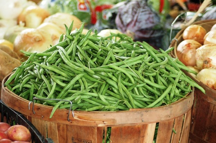 Bushel of tasty String Beans in a Basket!