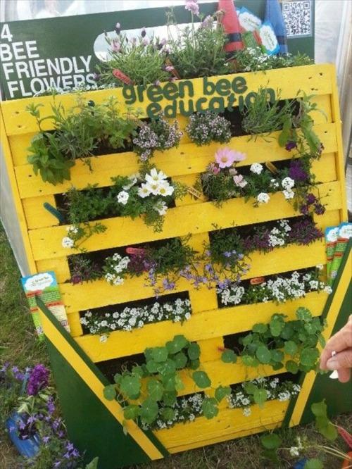 Pallet Garden Green Bee Education