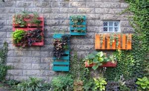 Pallet Garden Wall