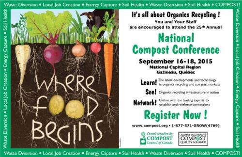 Compost Conference Gatineau Ottawa Quebec 2015