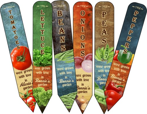 Garden Markers Personalized