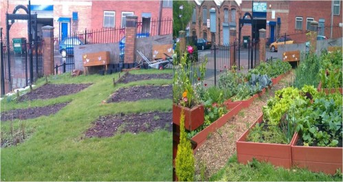 Neighborhood Guerilla Garden Before After