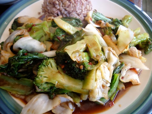 Recipe! Szechuan Sauce and lots of tasty nutritious Brassicas - Broccoli, Cabbage!