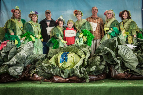 Cabbage Weigh Off 2013 Alaska State Fair Keevan Dinkel 10 yo Winner