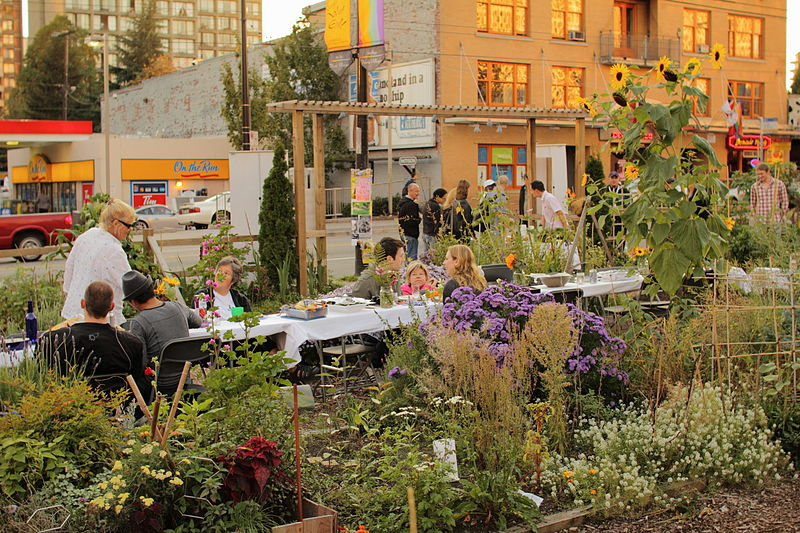 Social at Davie Village Community Garden in Vancouver's West End