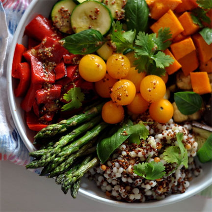 Buddha Bowl with Red Peppers