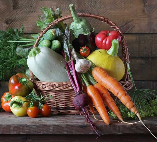 July Abundance Veggie Harvest Basket