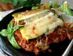 Zucchini Lasagna! Eat it hot or cold on a summer evening!