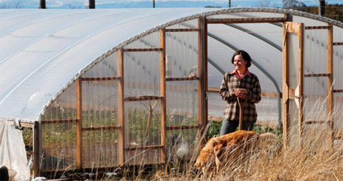 Barclay Daranyi Greenhouse Hoop House High Tunnel Farming in Norwood CO! Photo by Barton Glasser