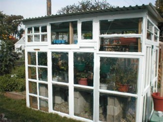 Greenhouse Reused Doors and Windows