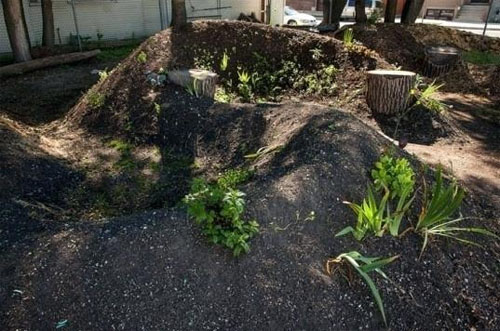 Beautiful graceful design of Hugelkultur style compost!