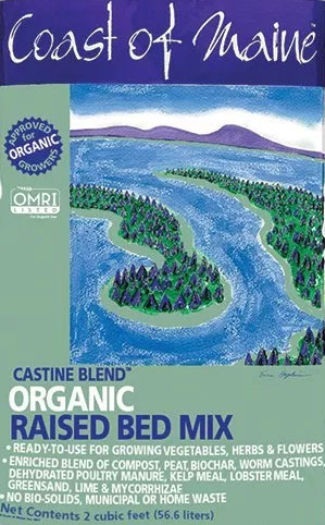 Coast of Maine Biochar Amendment raised bed mix