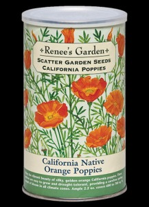 Renee's California Poppy Scatter Seed Can
