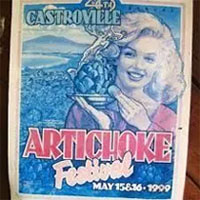 Artichoke Festival Marilyn Monroe First Queen 1947