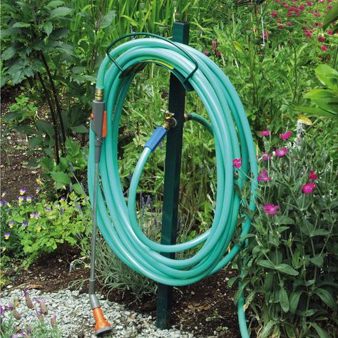 Hose Hanger, Hose Rolled in Long Loops for Easy Use